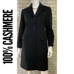 Lafayette 148 New York Jackets & Coats - Lafayette 148 100% Cashmere charcoal grey coat - S